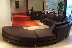 Modern round leather sectional sofa a94 leather sectionals for Sectional sofa mor furniture