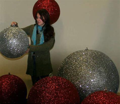 christmas display baubles giant medium  small