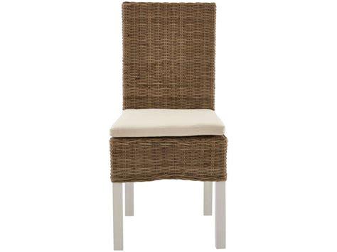conforama chaise de jardin chaise en osier coussin duke coloris naturel écru