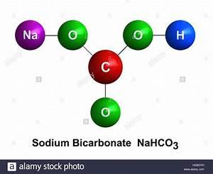 3d Render Of Molecular Structure Of Sodium Bicarbonate