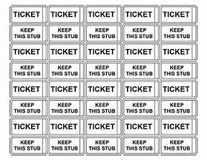 printable raffle tickets with numbers make your own With free template for raffle tickets with numbers