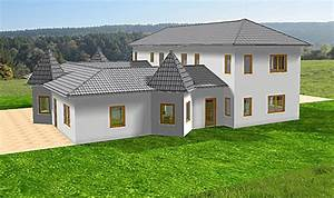 Bungalow Mit Atrium : atrium 289 30 12 ansicht 2 7 bungalow mit turm schloss einfamilienhaus neubau massivhaus stein ~ Indierocktalk.com Haus und Dekorationen