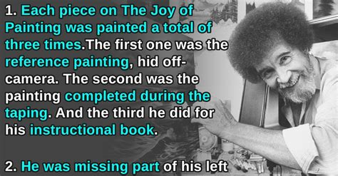 16 Happy Little Facts About Bob Ross | 22 Words