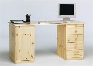 Schreibtisch Kiefer Massiv : schreibtisch kent kiefer massiv natur lackiert kaufen bei m bel lux ~ Orissabook.com Haus und Dekorationen