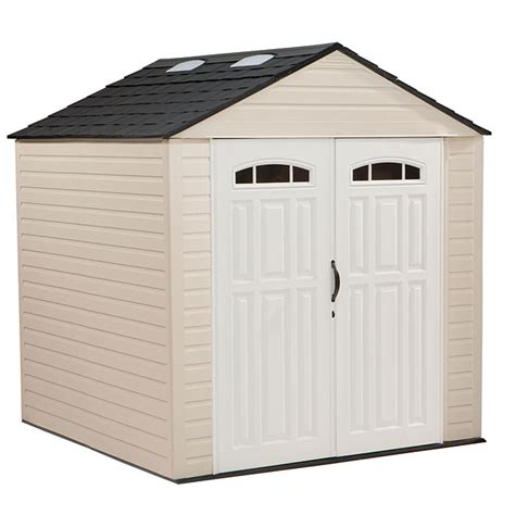 Rubbermaid Big Max Shed Shelves by Garden Sheds Rubbermaid Outdoor Storage Shed Vinyl Storage