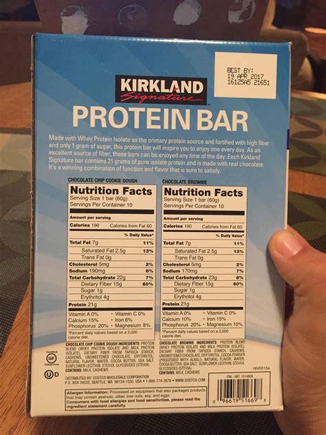 protein kirkland bars signature nutrition bar bodybuilding forums calculator source