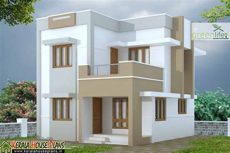 8 Cent Home Design : 1280 Sqft 3 Bhk House Design At 3 Cent Plot