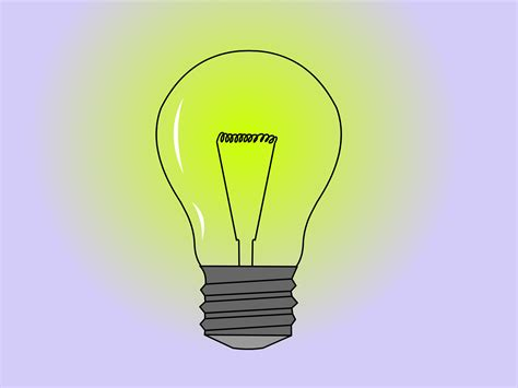 drawn light bulb cartoon pencil   color drawn light