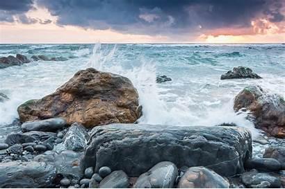 Rock Sea Nature Wallpapers Mar Backgrounds Desktop