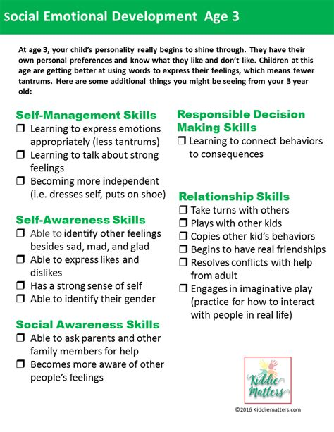 social emotional development checklists for and 672 | Slide2