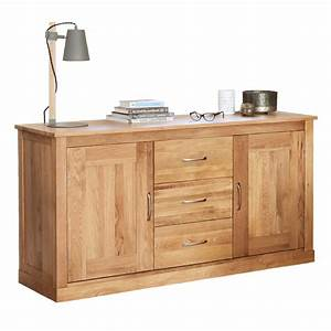 Baumhaus Mobel Solid Oak Large Sideboard COR02A