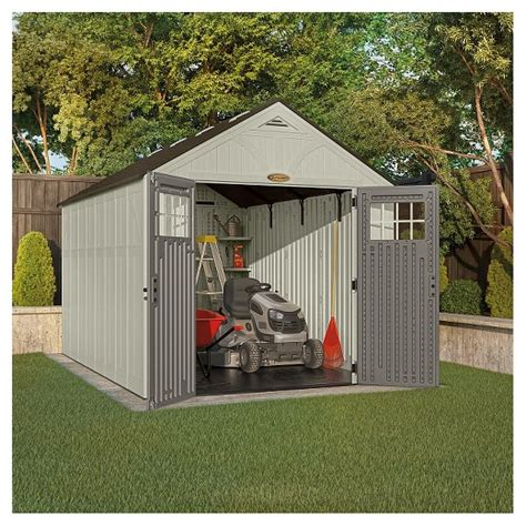 resin tremont storage shed 8 x 13 vanilla gray