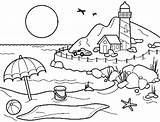 Coloring Vacation Pages Summer Printable Getcolorings sketch template
