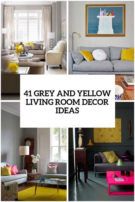 Yellow And Grey Bedroom Decor Ideas by 29 Stylish Grey And Yellow Living Room D 233 Cor Ideas Digsdigs