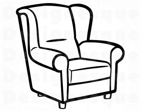 Armchair Outline Svg Armchair Svg Armchair Clipart
