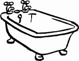 Bathtub Coloring Drawing Tub Bath Clawfoot Printable Pages Drawings Clip Getdrawings Curious George Fun Vector Getcolorings Clipartmag sketch template