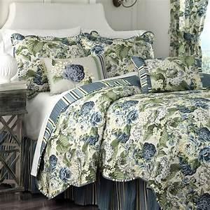 Waverly, Floral, Flourish, Reversible, Quilt, Set, U0026, Reviews