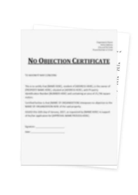 create   noc certificate format  private