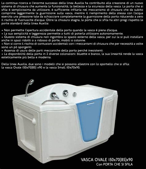 vasca ovale prezzo vasca ovale con porta sfilabile quot auxilia quot 150x70
