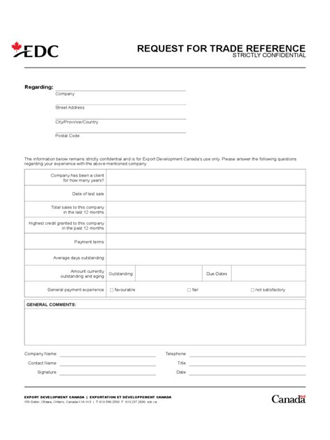 Trade Reference Request Form Template Free by Trade Reference Template 5 Free Templates In Pdf Word
