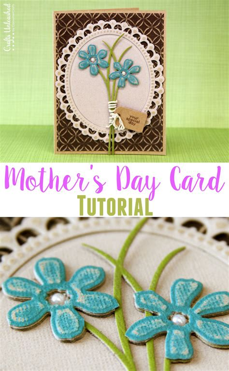 mothersday diy diy mother s day card 3d die cut crafts unleashed
