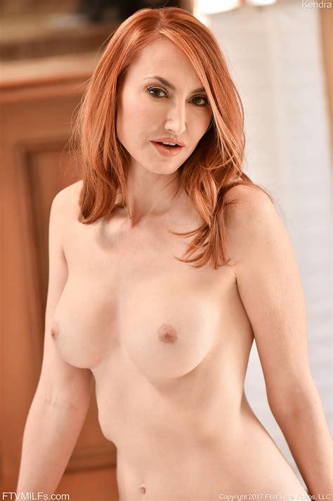 Exquisite Mature Redhead In Elegant Red High Heels