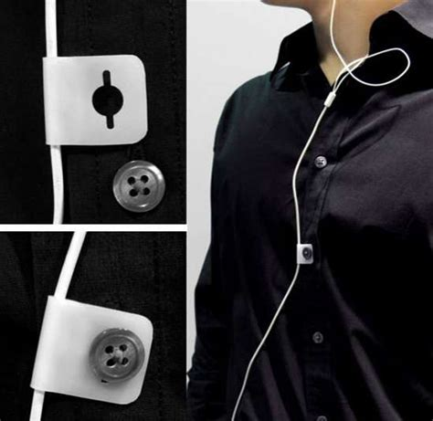 Headphone Cable Clips: Wire Button