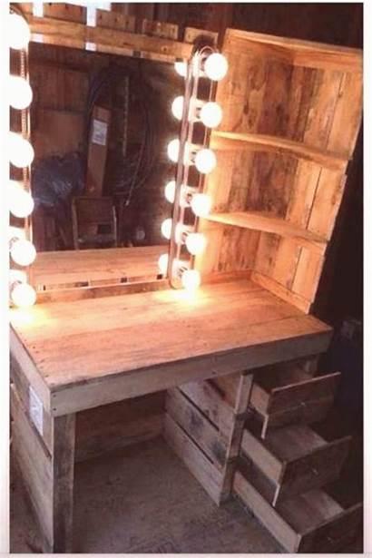 Vanity Bathroom Makeup Rustic Organization Furniture Shelf