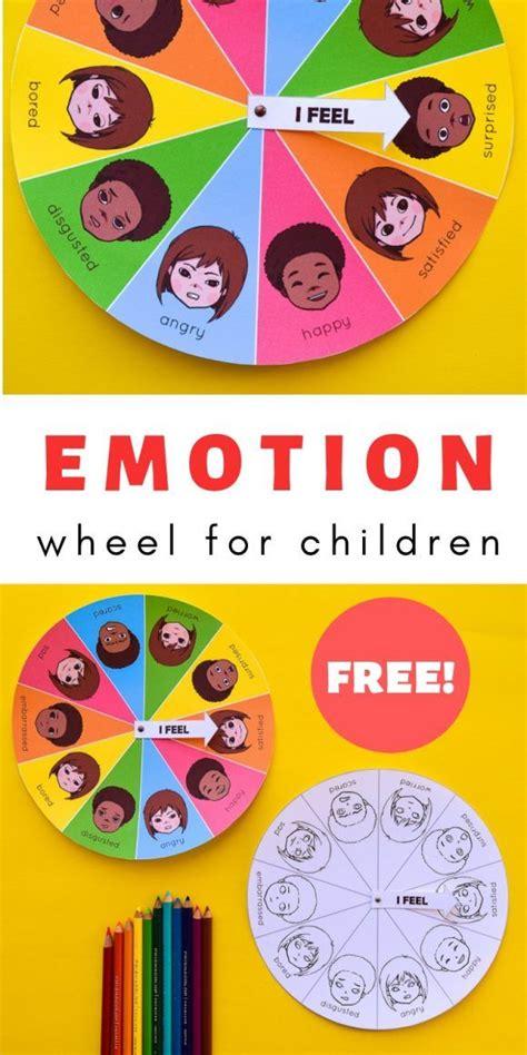 printable mood emotion wheel chart  children