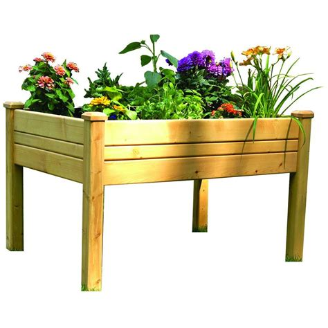 home depot garden table eden 2 ft x 3 ft cedar raised garden table rgt 23 the