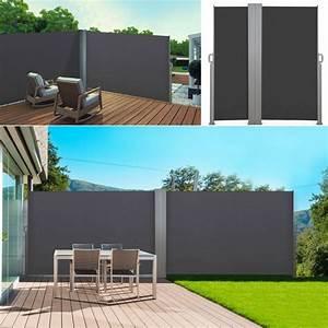Paravent D Extérieur : paravent ext rieur r tractable double 600x160cm gris store vertical ~ Teatrodelosmanantiales.com Idées de Décoration