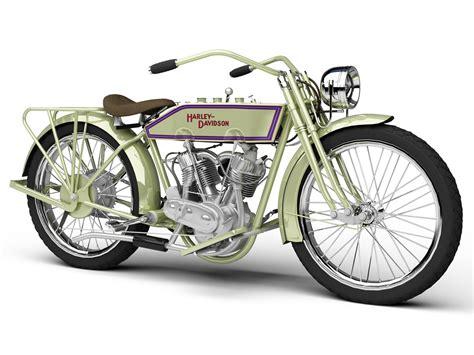 3d Model Harley Davidson 11j 1915 Motorcycle