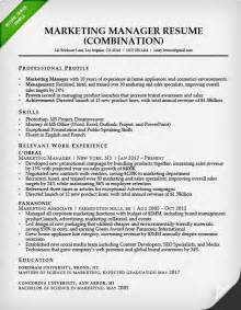 best resume format for marketing executive marketing resume sle resume genius