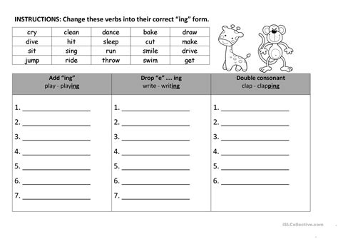 worksheets verbs with ing homeshealth info