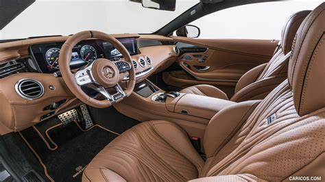 Refined taste comes with it as well. 2018 BRABUS 800 Coupe based on Mercedes-AMG S 63 4MATIC+ Coupe - Interior, Front Seats | HD ...