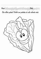 Coloring Colorir Alimentos Lettuce Smart Verduras Frutas Desenhos Vegetables Fruits Colorear Atividades Comida Maternal Legumes Dibujos Preschoolactivities Alface Preschool Imprimir sketch template