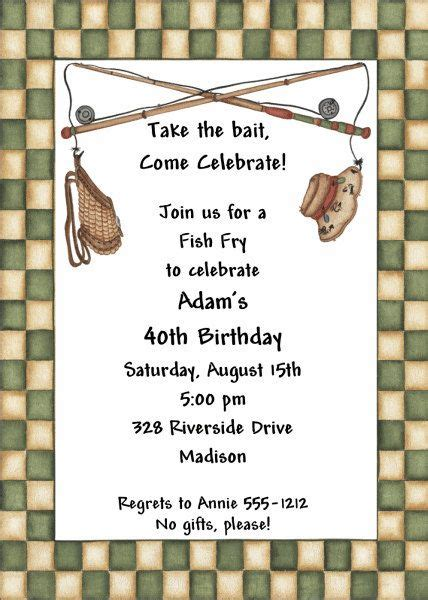 adult birthday invitations fish fry abi diy