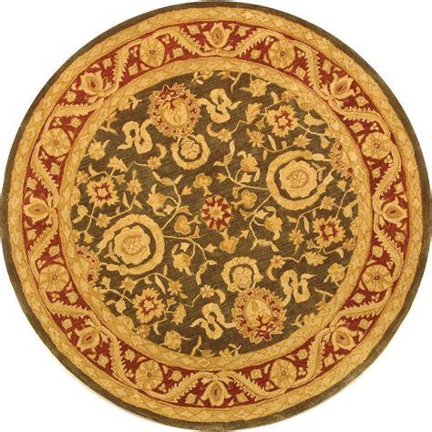 4 foot area rugs safavieh anatolia charcoal 4 ft x 4 ft area