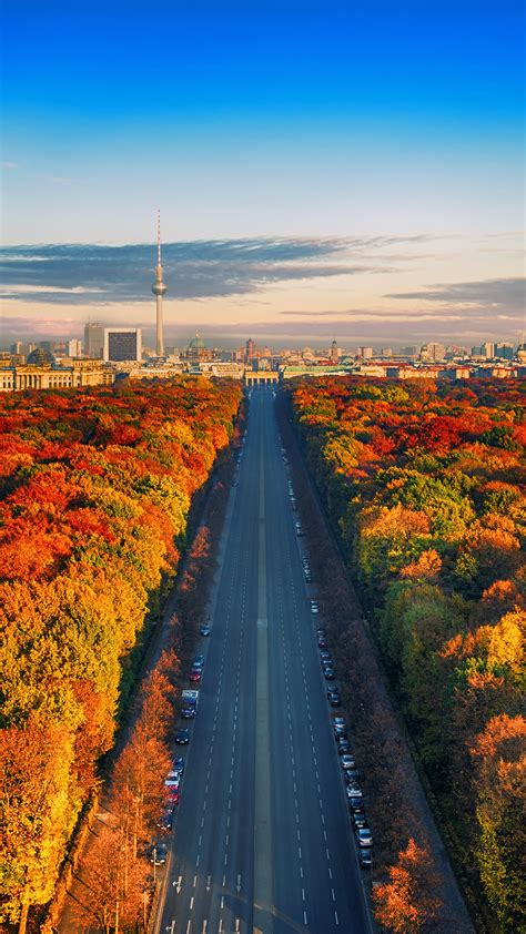 wallpaper autumn berlin germany cityscape  world