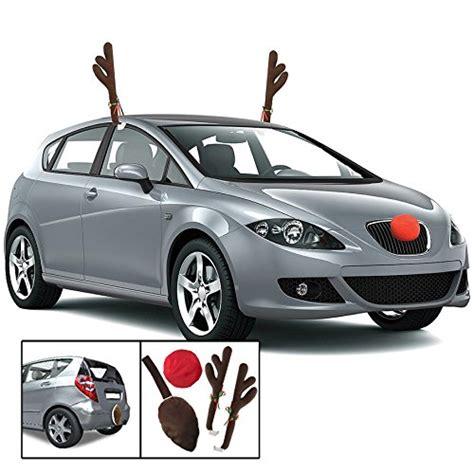 kovot reindeer car set includes car jingle bell antlers