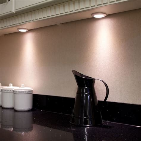 Dimmable Led Under Cabinet Lighting Kitchen by Dimmable Hd Led Flat Disc Under Cabinet Spotlight Modern