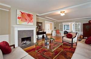 Furniture placement in small living room with fireplace e2 for Mid century modern living room furniture arrangement