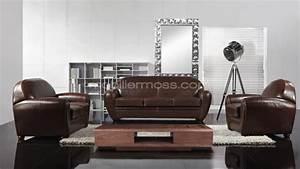 Salon cuir club jazzy canape 3 places canape 2 for Canapé 3 places pour décoration de salon contemporain