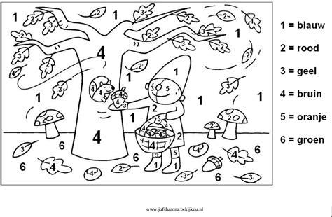 Cijfer Kleurplaat Herfst by Cijfer 1 Kleurplaat 1