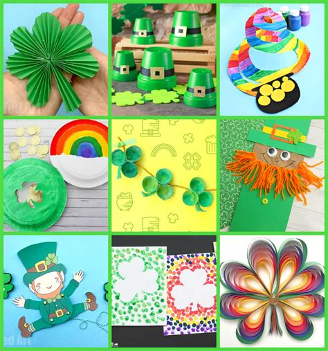 easy st patricks day crafts  kids happiness  homemade