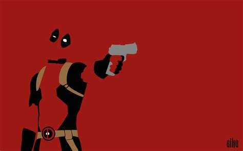 Wallpaper Deadpool Minimalist By Malowsdrawing On Deviantart