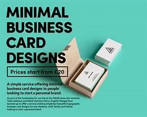 Graphic designers launch minimal business card design for Graphic designers business cards
