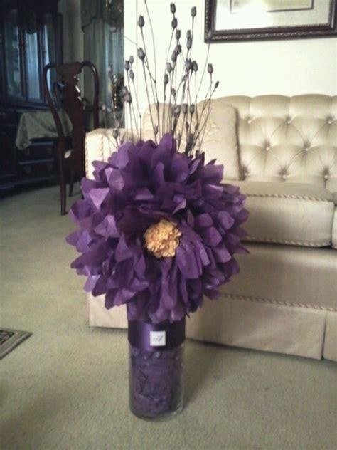 tissue paper centerpiece flower paper centerpieces