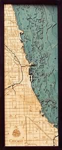 California Nautical Charts Chicago Shoreline Nautical Map 3d Nautical Wood Map