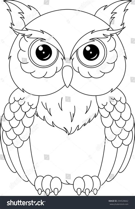Coloring Owl by Owl Coloring Page Paper Owl Coloring Pages Owl